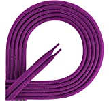 Ladeheid Qualitäts-Schnürsenkel aus 100% Polyester LAKO1001 (violett70, 100cm)