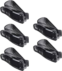 Mintice Trade 5 X Kfz Auto Brillenhalter Sonnenbrillenhalterung Lkw Sonnenblende Brillenablage Halter Clip Sonne Schwarz Pkw Auto