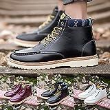 Yogogo Hohe Schnüren Herren Hohe Sneaker Atmungsaktive Schnürstiefel Schuhe Turnschuhe Freizeitschuhe Wasserdicht Wanderschuhe Arbeits Stiefel Laufschuhe Trekkingschuhe Gefütterte Schwarz Weiß