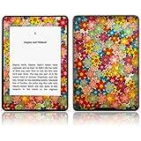 TaylorHe Skin Folie Sticker Aufkleber mit bunten Mustern für Kindle Paperwhite Made in England Blumen, bunt