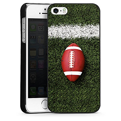 Apple iPhone 4 Housse Étui Silicone Coque Protection Football Field Goal Sport CasDur noir