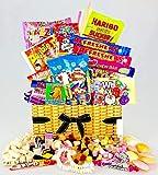 Geschenkkorb mit Süßigkeiten Retro-Design Weiden-Effekt mit Schleife Tolles Geschenk