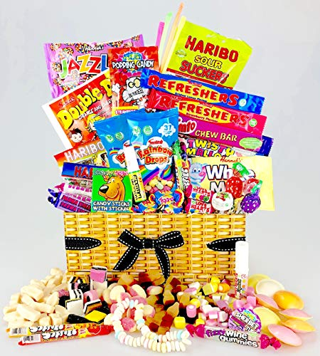 Unique Retro Sweets and Chocolates Hamper Box - add your personal message