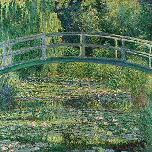 ambiente-serviettes-lunch-party-33-x-33-cm-monet-the-water-lily-pond