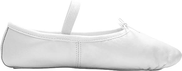 DWS 1003 Ballett Ballerina Tanz Gymnastik Sport Hallen Trainings Schläppchen Schuhe Leder Kinder Damen Mittlere Weite Rosa und Weiß