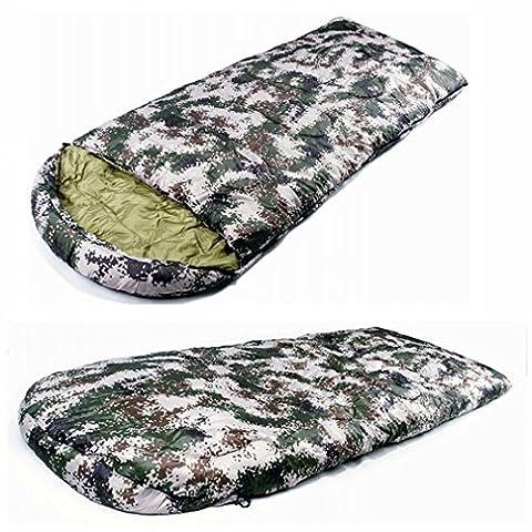 Sac de Couchage Camouflage Numérique Sac de Couchage en Plein Air Sac à Dos Sacs de Couchage Adultes Chauds Et Épais,UNE