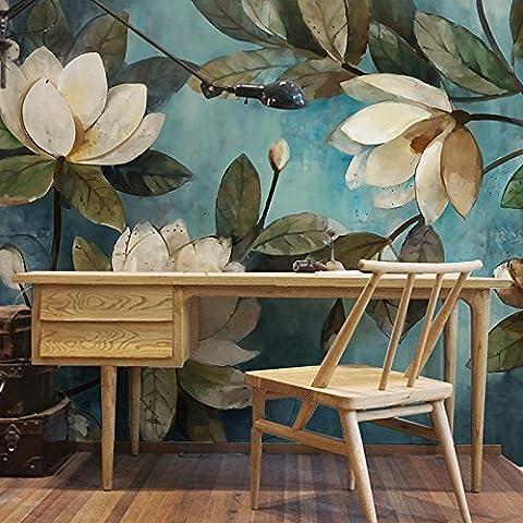 Europäischer Stil Handgemalte, Retro Blumen, Tapete, Wohnzimmer, Schlafzimmer, Sofa, Fernsehen, Wand, Tapete, Non-Woven-Stoff