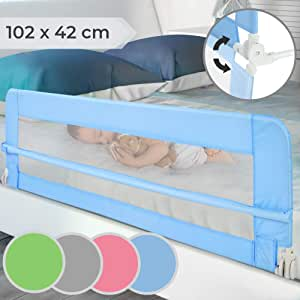Grey 1.02 Meters Sotech Material: Nylon Fabric Safety Rail for Childs Bed Deployed Size: 102 x 42 x 43 cm Baby and Toddler Safety Bed Rail 3.3 feet