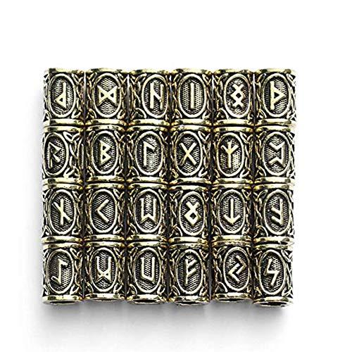 rds Schmuck, 304 Edelstahl Runen Perlen Für Männer Halskette Pendant Armband-Accessoires,Metallic ()