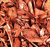 Hackschnitzel * Holzdekor * Häcksel * Mulch - rot gefärbt mit Eisenoxid - ca. 800 Liter im BigBag - GRATIS VERSAND