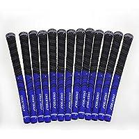 Lot de 13grips pour clubs de golf, tissage en fil de coton écologique anti-dérapant, taille moyenne ou standard