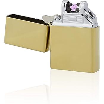 tesla lighter t03 elektronisches usb lichtbogen feuerzeug gold k che haushalt. Black Bedroom Furniture Sets. Home Design Ideas