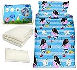 Cartoon characters Brands :Junior Bed Set,4 piece Bedding Bundle Quilt,Pillow Pillowcase,Duvet cover (George pig,Pirate)