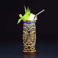 Tiki Mugs Cocktail, en céramique hawaïenne, verres à cocktail exotiques Tiki Bar professionnel Hawaiian Party Barware