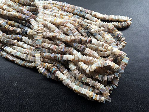 1Strang Natur Australian Tiffany quadratische Beads,, frei von Blei, Tiffany Opal Halskette, ca. 5mm, 40,6cm