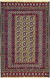 Nain Trading Kelim Afghan 134x86 Orientteppich Teppich Dunkelbraun/Lila Handgewebt Afghanistan