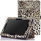 MoKo Etui Amazon Kindle Fire HD 7 2014 - Etui Fin et Pliable pour Tablette Kindle Fire HD 7 Pouces 4ème Génération, Léopard BRUN (non adapté à Fire 7 2015)