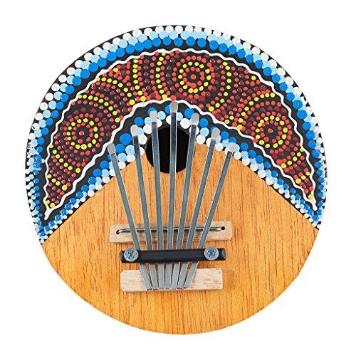 Sharplace Kalimba Daumen Piano 7 Tasten Einstellbare Kokosnuss Schale Musikinstrument