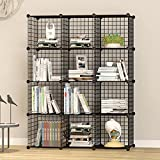 DIY Closet Cabinet By House of Quirk Metal Wire Storage Cubes Organizer (12 - Regular Cube)