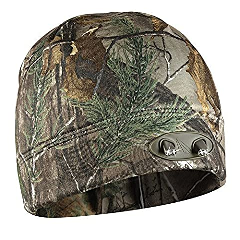 Panther Vision CUBWB-4539 - Headlamp 4 LED Warm Beanie Cap, Hands-Free (RealTree Xtra Camo) by
