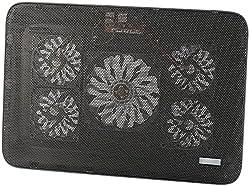 "Callstel Notebook Cooler: Notebook-Kühler bis 43,2 cm (17""), 5 Ventilatoren, 1.800 U/min, 2X USB (Laptop Kühlung)"