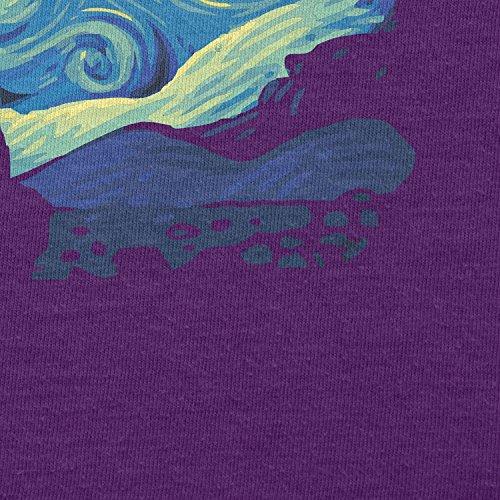 TEXLAB - Mario Stars Night - Herren T-Shirt Violett