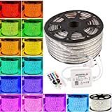 GreenSun LED Lighting Flexible 50M 5050 RGB strip mit 24 Taste IR Bluetooth Kontroller Lichterschlauch Lichtschlauch Lichterkette Schlauch Leiste IP65 60leds / m wasserdichte Weihnachts Streifen Licht
