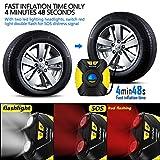 Ansteker Tyre Inflator - Portable Air Compressor Car Tyre Pump with 3-Mode LED Light - Backlit Digital Pressure Gauge - Valve Adaptors for Car Bicycles Tires, Basketballs and Other Inflatables, 12V