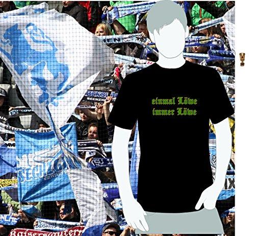 World of Football Sechzig T-Shirt Einmal Löwe Immer Löwe grün Gold - XXL - Für Immer Grünes T-shirt