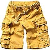 Shaoyao Bermudas Cargo Shorts Hombres Pantalones Cortos Leisure Militar Camuflaje