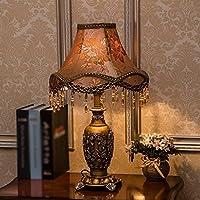 Preisvergleich für AEXU Schick Tischlampe American Country Schlafzimmer Studie Wohnzimmer Nachttischlampe Dekorative Tischlampe Originalität