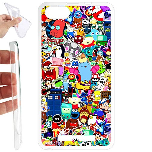 Custodia cover TPU Gel per Wiko Lenny 3 - 560 Cartoon
