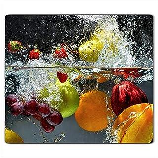 FTB Gsmarkt   Herdabdeckplatte Schneidebrett Spritzschutz 60x52   Bild auf Glas   Sicherheitsglas Gehärtetes Glas Bild   Motiv Früchte