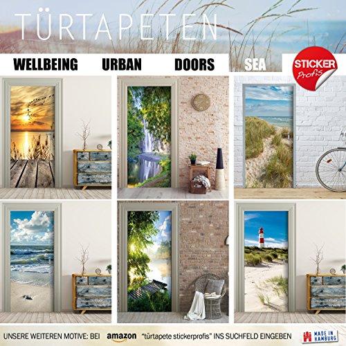 Türtapete selbstklebend TürPoster – ORCHIDEE & WASSER – Fototapete Türfolie Poster Tapete - 5