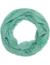 Kandharis leichter halbtransparanter Sommerschal Loopschal aus Seide & Baumwollmix Blumen Paisley Muster