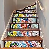APSOONSELL Treppenaufkleber Kreative Dekoration Treppe Aufkleber in Mosaik-Muster(18 * 100cm pro Stück und 6 Stück pro P