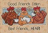"Best Gift Garden Friends Keepsakes - Dimensions ""Good Friends Listen"" Mini Counted Cross Stitch Review"