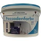 Meffert Fassadenfarbe Wetter&Scheuerbeständige Aussen-Dispersionsfarbe Weiß 5 Liter.