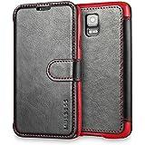 Mulbess handyhülle Samsung Galaxy S5 / S5 Neo hülle - Ledertasche im Wallet Case für Samsung Galaxy S5 / S5 Neo Tasche schwarz