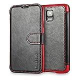 Mulbess Samsung Galaxy S5 / S5 Neo hülle Schwarz,Ledertasche für Samsung Galaxy S5 / S5 Neo Tasche Leder
