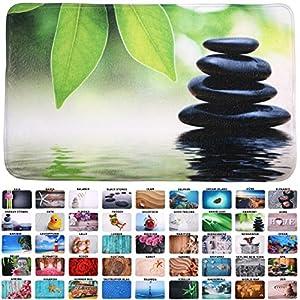 Sanilo Badteppich Harmony 50 x 80 cm, hochwertige Qualität, sehr weich, schnelltrocknend, waschbar, rutschhemmend, Fußbodenheizung geeignet