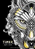 Timer 2019/2020: Schülerplaner A5  Motiv Wolf | Schülerkalender mit Wochenkalender - 1 Woche auf 2 Seiten | Organisiere Deine Freizeit, Termine und Schule (Boho Chic Planer 2019 2020, Band 1)