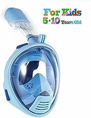 roadwi 180 Panorama-Sicht Schnorchelmaske, Anti-Beschlag-Schutz Kompatibel mit Action Kamera-Halterung,Easybreath Tauchmaske Vollgesichtsmaske Schnorchelmaske für Erwachsene und Kinder