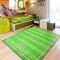 zxdg-kids Childrens campo de fútbol alfombra, antideslizante,alfombras para habitación de los niños Fútbol alfombra