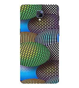 PRINTVISA Abstract Colourful Ball Case Cover for ONE PLUS 3