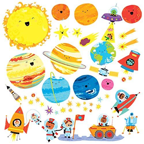 Decowall DW-1707 Planeta Espacio El Universo Vinilo Pegatinas Decorativas Adhesiva Pared Dormitorio...