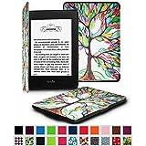 Fintie Etui Kindle Paperwhite - étui Flip en cuir super fin et léger, fermeture magnétique avec mise en veille automatique pour Amazon All-New Kindle Paperwhite (Convient à touts les versions: 2012, 2013 et 2015 New 300 PPI) - Love Tree