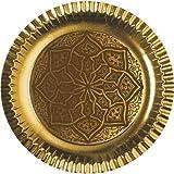 """90 Teller, Pappe rund Ø 29 cm gold """"Ornament"""" 10220 Papstar Pappteller Einwegteller Party Papstar"""