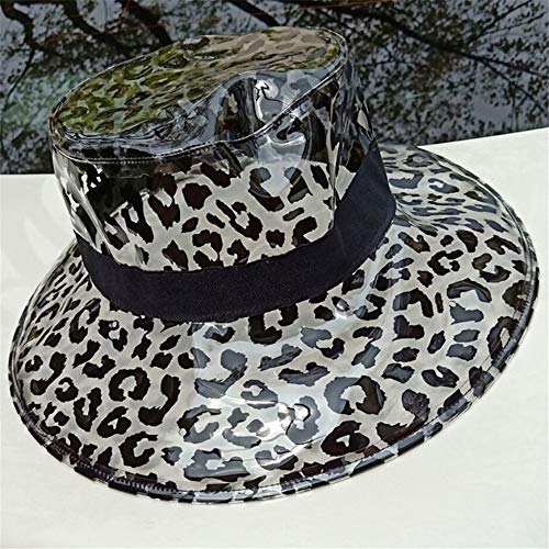 Sonnenkappe Poker Visor-Cap Retro Schildkappe im Freien Sonnenhüte für Damen und Herren,PVC leeren Hut transparenten Sonnenhut Leopard Kind Erwachsenen leeren Hut, Leopard Becken Kappe Leopard-visor