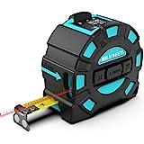 Medidor de Distancia Láser, Mileseey Cinta Métrica Láser Recargable USB,Medidor Láser 40M y Cinta Métrica 5M, Buscador de Alc